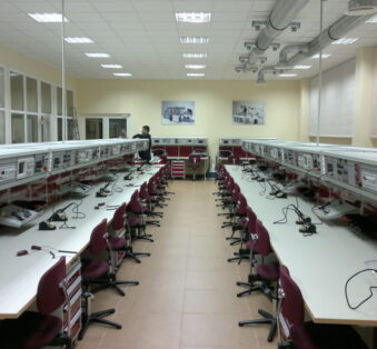 Electronics and soldering laboratory